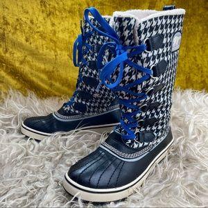 Sorel Tivoli Tall Houndstooth Winter Boot Size 6